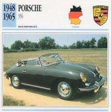 1948-1965 PORSCHE 356 Classic Car Photo/Info Maxi Card
