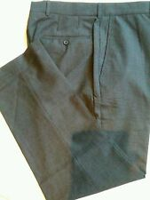 MENS KIRKLAND SIGNATURE GARBADINE WOOL FLAT FRONT  DRESS PANT SLACK 40 x 30