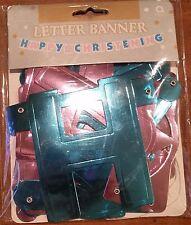 Letter Banner - HAPPY CHRISTENING