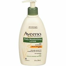 4 Pack Aveeno Active Naturals Daily Moisturizing Lotion SPF15 12.0 Oz Each