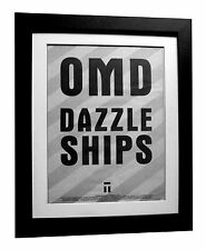 OMD+ORCHESTRAL+Dazzle Ships+POSTER+AD+ORIGINAL 1983+FRAMED+FAST GLOBAL SHIP