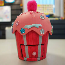 Cupcake Trinket box to paint, decorate and personalise arts and crafts kit