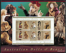 1997 Dolls & Bears Post Office Pack Australia Mint Stamps
