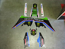 KIT GRAFICHE ADESIVI MONSTER KAWASAKI KX 125 250 KXF 250 450 GB BLU