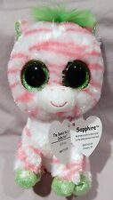SAPPHIRE the ZEBRA - JUSTICE EXCLUSIVE -TY BEANIE BOOS -  MINT with MINT TAG