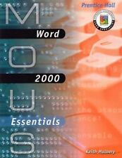 MOUS Essentials: Word 2000 with CD, Keith Mulbery, Good Book