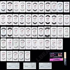 Amor US 100% Human Eye Lashes Hair False Eyelashes (60 pairs Set) PICK 60 styles