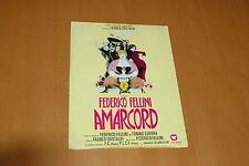 MAGALI NOEL PUPELLA MAGGIO FEDERICO FELLINI AMARCORD 1974  RARE SYNOPSIS