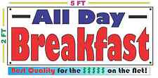 BREAKFAST ALL DAY BANNER Sign NEW Larger Size Best Quality for the $$$