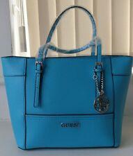 Guess Delaney Small Classic Tote Handbag [Sky Blue]