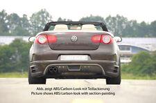 Rieger Heckansatz Carbon-Look für Doppelendrohr links für VW Eos 1F bis Facelift