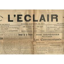 L'ÉCLAIR 15-11-1915 Frères BOUILLON 1er Prix à Paris Naissance Louis JAUME BOXE