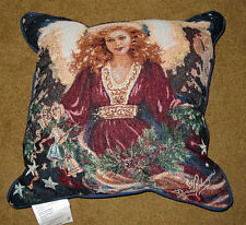 Christmas Blessing Angel Tapestry Pillow ~ Artist, Dona Gelsinger