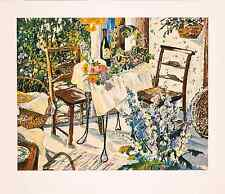 "Susan Rios - ""Inn at Ampes"", hand-signed serigraph on paper"