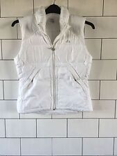 WOMENS URBAN VINTAGE RETRO WHITE OLD SCHOOL ADIDAS JACKET GILLET COAT UK 10