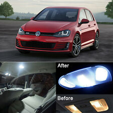 Xenon White LED Interior Light Kit For VW Golf MK7 VII EX.Sunvisor lamp (8pcs)