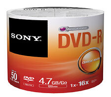 300 Sony DVD-R 16X Silver Logo Branded DVD-R DVDR Blank Media Disc 4.7GB