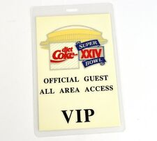 Coca-Cola Coke USA Super Bowl VIP All Area Backstage Pass 1990
