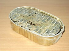 "GERMAN WW2 RATION TIN ""KONSERVE"" original 1944 - OVAL TYPE, 2nd VERSION"