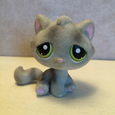 Littlest Pet Shop 323 gray CAT fuzzy RETIRED HTF  USA seller - 9 pictures.