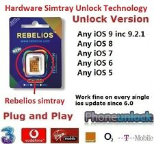 Premium Unlock UK EE IPHONE 4S ios 9.3 Rebelios ( Nano ) SmartTray to ANYSIM