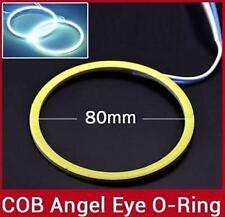 2X80mm LED COB Angel Eye Ring Car Light Super Bright Waterproof White  MAHINDRA