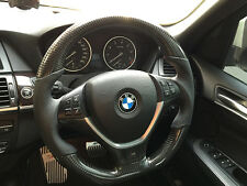 BMW X5 X6 E70 E71 M performance steering wheel carbon fiber retrimmed genuine BM