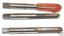 """3 NOS Taylor CANADA machinist 1/4"""" - 56 NS HS HAND TAP 2 FL 2-11/16"""" OAL 303 SS"""