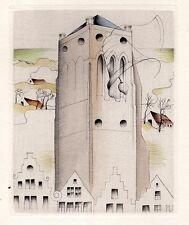 Margot Weemaes 1930's Belgian Art Deco Etching #3