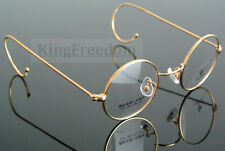 42mm Vintage Round Gold Wire Rim Eyeglass Frame Spectacles Glasses Rx able 727