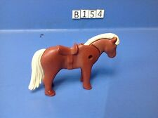 (B154) playmobil poney marron rouge et beige Poney Ranch 5221 4190 4343 3120