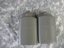 US MILITARY PLASTIC 1 PINT PILOT FLASK / CANTEEN, OD, 4 PACK