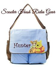 Disney DIAPER BAG personalized baby tote Winnie the Pooh monogrammed NEW Blue
