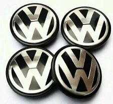 NEW VW T5 TRANSPORTER VOLKSWAGON CHROME BLACK ALLOY WHEEL CENTRE CAPS INSERTS