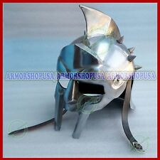 Gladiator Movie Maximus Helmet Roman Sparatn Larp Helm with Inner Leather Liner