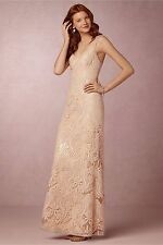 NIP - Audra Maxi Dress (BHLDN $350) Pink Lace Sequins - 6