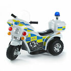 NEW Kids 6v Ride on Electric Bike POLICE Flash Siren Outdoor Indoor Toy // Toys