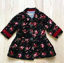 Kenzo Kids Baby Girl's Gorgeous Velveteen Floral Coat, Size 18 Mos, EUC, Party