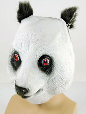COMPLETO in Gomma Latex Animali Panda Bear Mask Safari Costume Halloween GRIZZLY