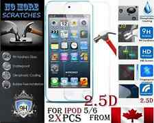2X 2.5D 9H Premium REAL Tempered Glass Apple ipod 5 6 5th 6th Screen Protector 2