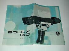 publicité PAILLARD BOLEX de la caméra 8mm BOLEX 150 SUPER en francais