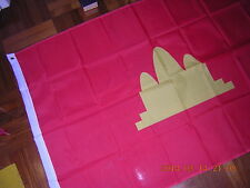Flag of Democratic Kampuchea Red Communist Cambodia 1975-1979 Ensign 3ftX5ft