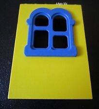 Lego Fabuland x637c01 Window Fenêtre Jaune Yellow Bleu Blue du 3673 3675 3674
