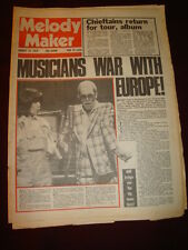 MELODY MAKER 1976 AUG 14 CHIEFTAINS ELTON JOHN JOAN ARMATRADING EMERSON LAKE
