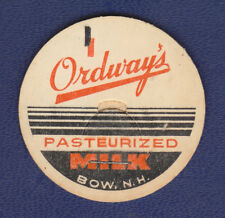 UNUSED MILK CAP (ORDWAY'S, BOW, NH)