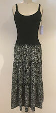 Bailey 44 Batido Black Sleeveless Knit & Crepe Midi Dress S $218 NWT NEW STYLE!