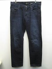 7 for all man kind slimmy cut dark blue jeans size 34/33 (36/33) EUC