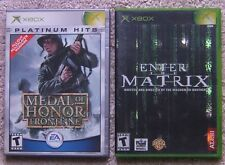 Lot of 2 XBox Video Games Medal of Honor Frontline Enter The Matrix Games