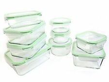 Kinetic 55041 18 Piece Glassworks Oven Safe Glass Lock Food Storage Container, C