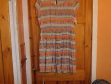 BNWT -NEW LOOK ORANGE BIRDY DETAIL SO SOFT FLOATY SKATER STYLE DRESS SIZE 14